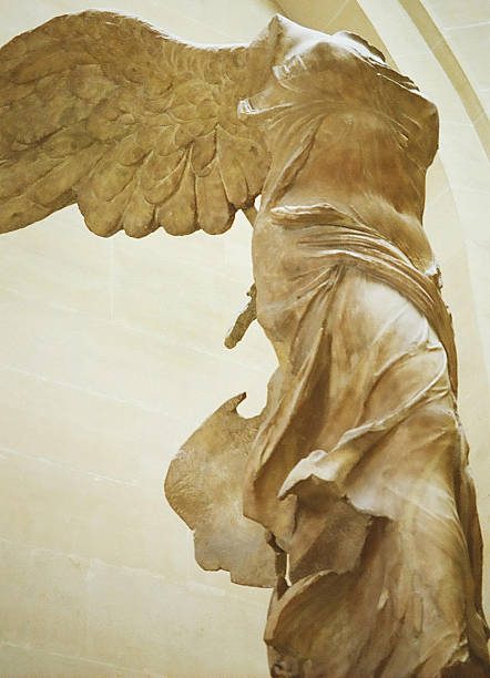 The Winged Victory of Samothrace stock photo. Nike of Samothrace site stock  photo