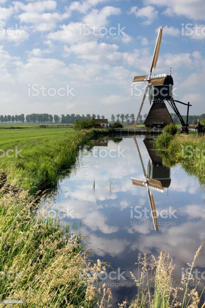 The Wingerdse mill near Bleskensgraaf stock photo