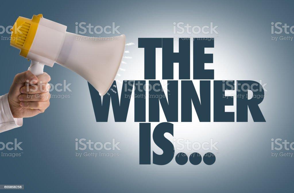 The Winner Is... stock photo