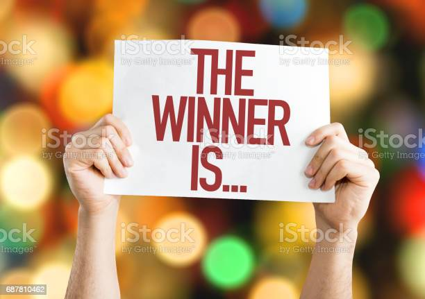 The winner is placard picture id687810462?b=1&k=6&m=687810462&s=612x612&h=xyozk pl9fdkju28vz godn54rrtrwawrzbymbfqzve=