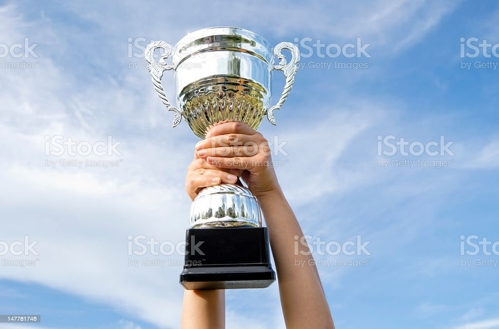 The Winner ,Trophy royalty-free stock photo
