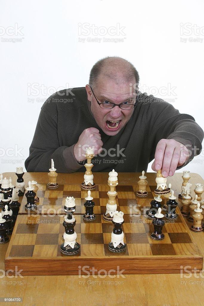 The winning move! royalty-free stock photo
