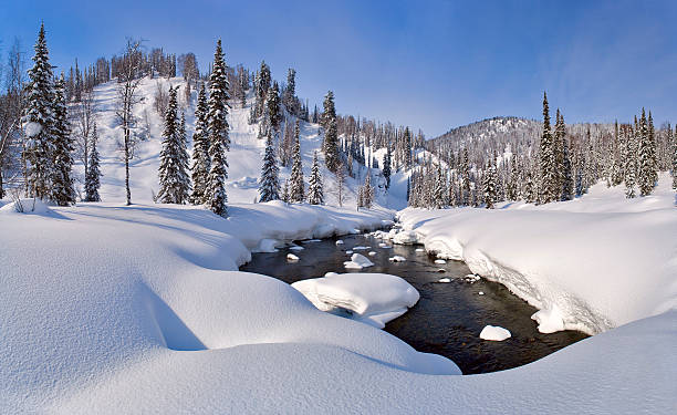 Der winter creek panorama – Foto