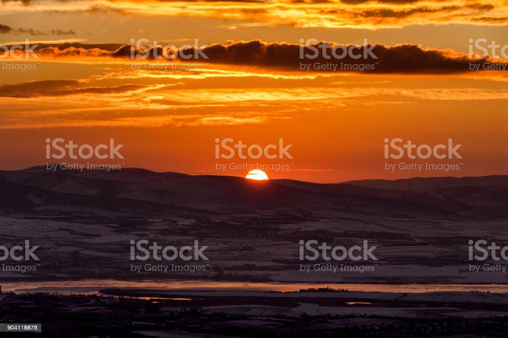 Kış Dawn stok fotoğrafı