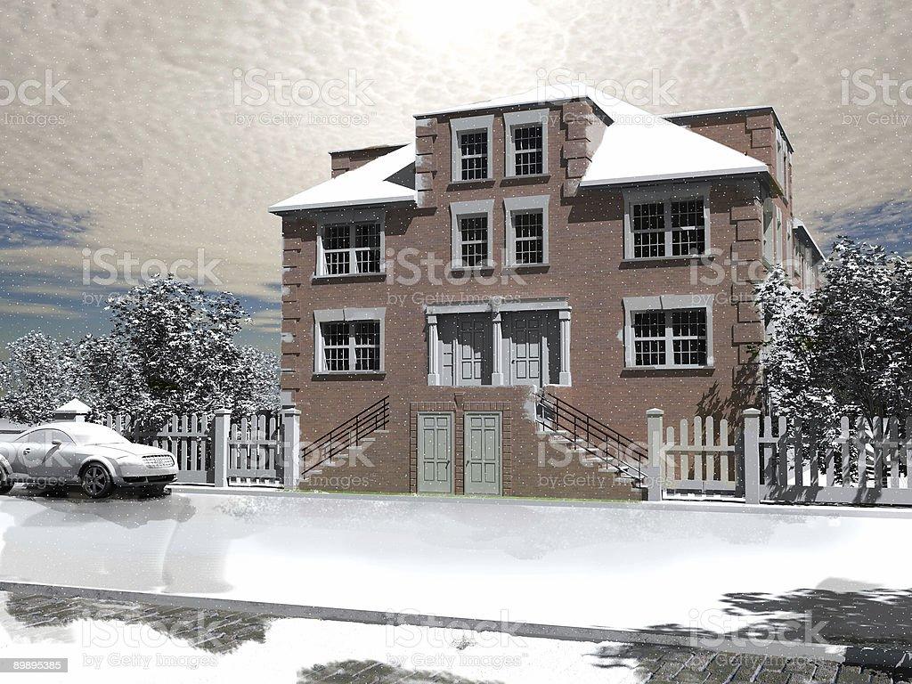 Зимний Дом Стоковые фото Стоковая фотография