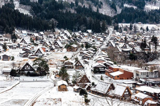 The winter wonderland of Shirakawago, Gifu Prefecture, Japan.