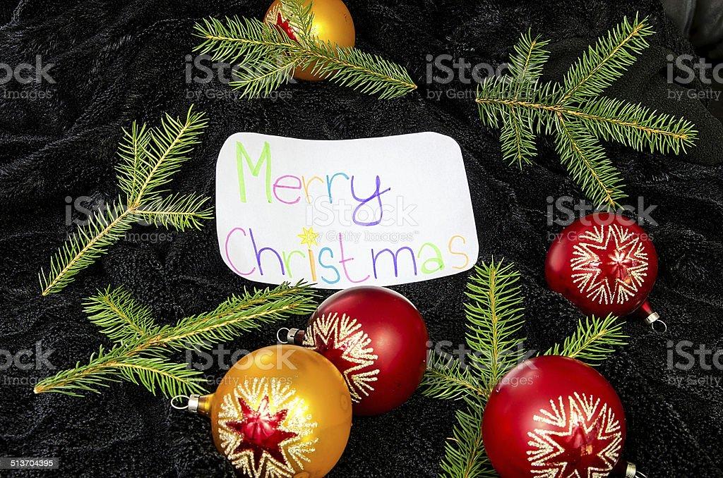 Buon Natale In Inglese.Il Desiderio Di Buon Natale In Inglese Fotografie Stock E Altre