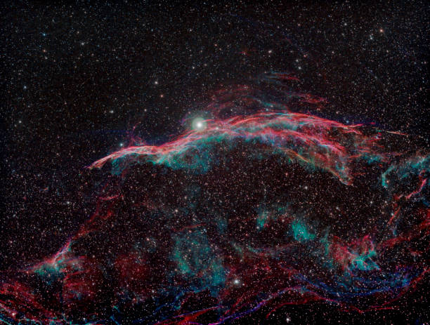 the witch's broom: west veil nebula - dally stock pictures, royalty-free photos & images
