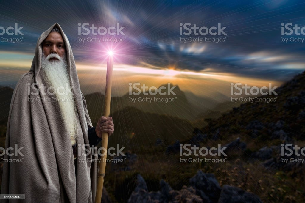 The Wizard Sorcerer stock photo