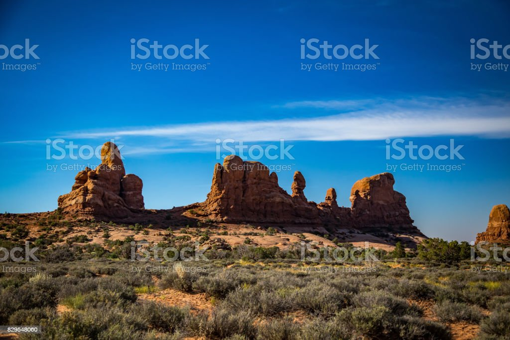 The Wndows Section Arches National Park stock photo