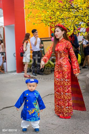 865399512istockphoto The woman and boy wear happy new year's traditional 834185016