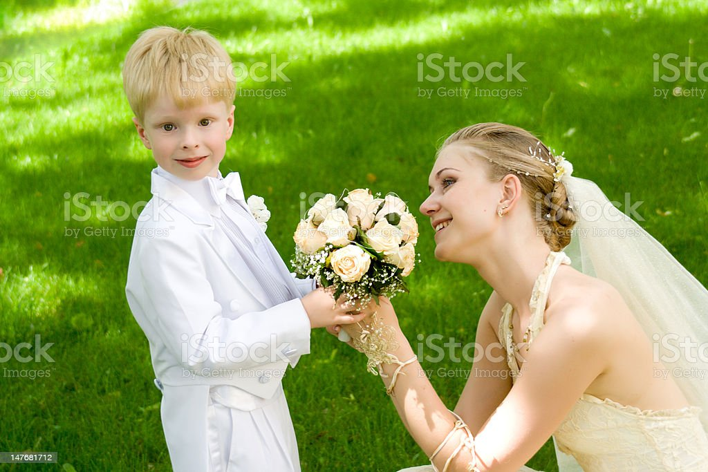 The woman and child stock photo