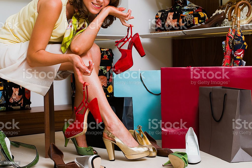 The woman in shop royalty-free stock photo