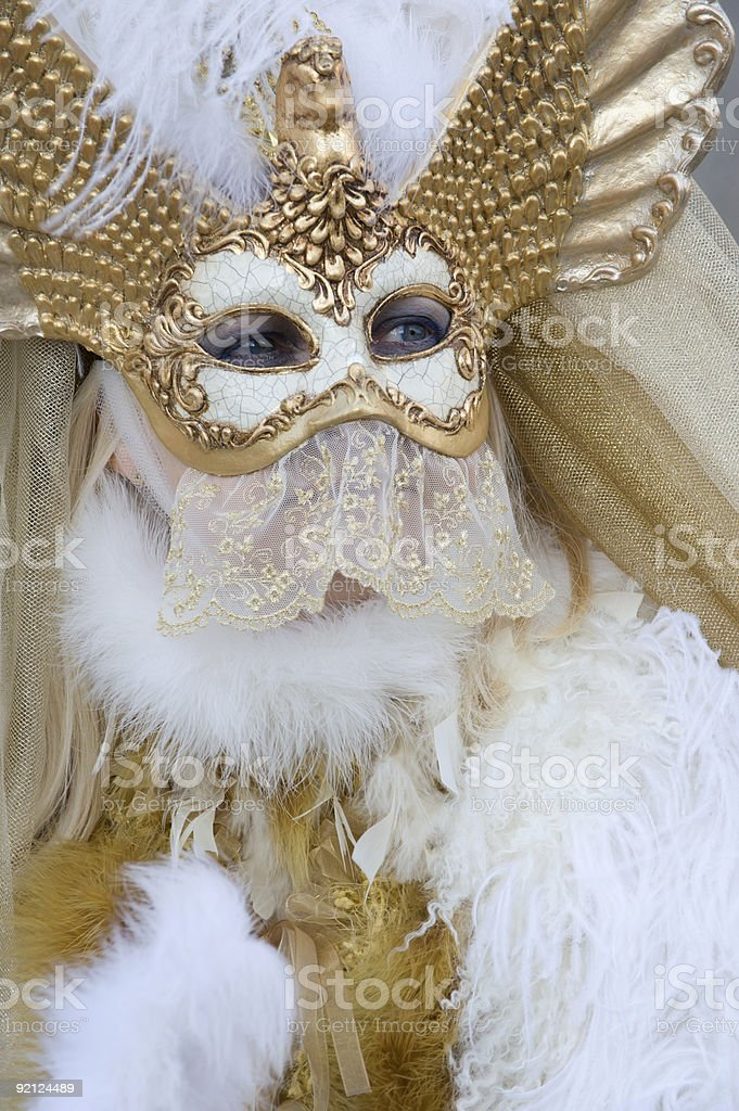 The woman with golden wings royalty-free stock photo
