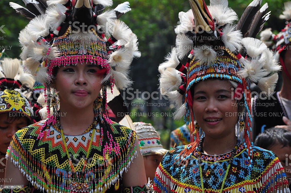 The Women of Dayak stock photo