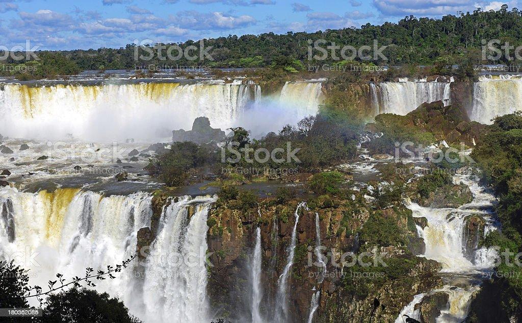 The wonderful Iguazu waterfalls royalty-free stock photo