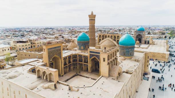Das Wunderbare im Inneren der Kalon-Moschee Buchara, Usbekistan. UNESCO Welterbe. – Foto