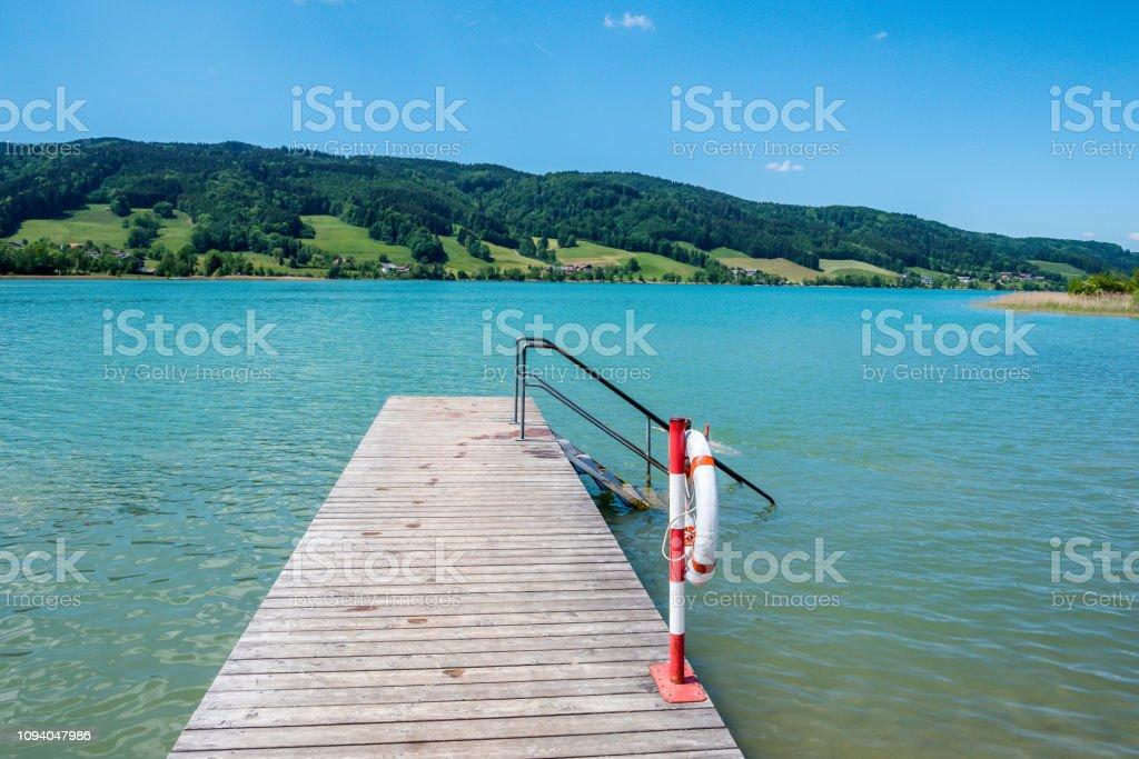 Die Holzbrücke von der Irrsee im Salzkammergut – Foto