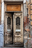 maltese colored door decorated beautifuly