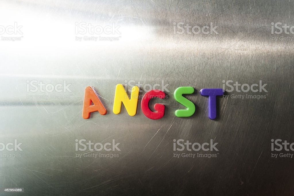 The Word Angst stock photo