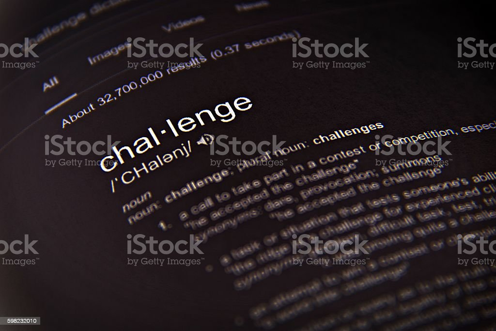 The word challenge, close up, selective focus foto royalty-free
