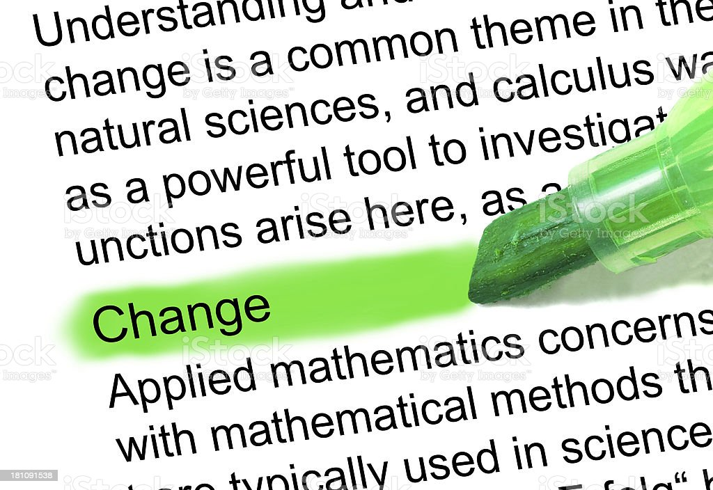 the word change definition marked in dictionary stock photo