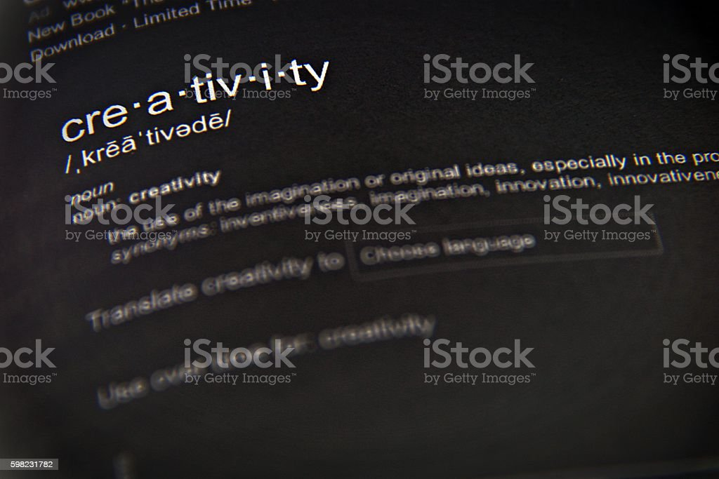 The word creativity, close up, selective focus foto royalty-free