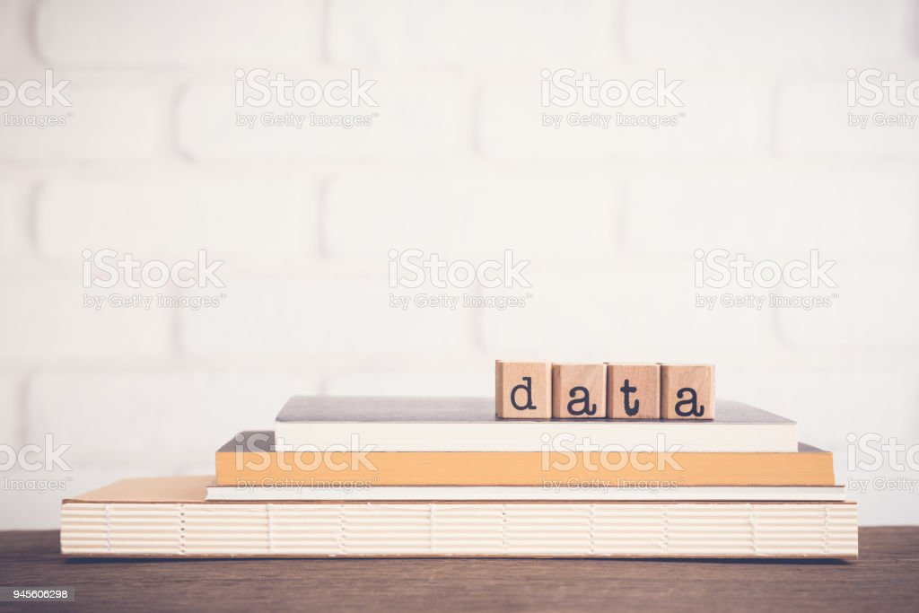 The word Data and copy space background. stock photo