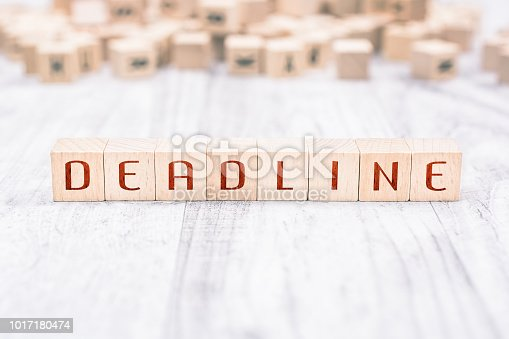 istock The Word Deadline Formed By Wooden Blocks On A White Table, Reminder Concept 1017180474