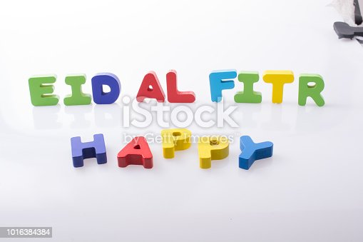 istock the word EID EL FITR  written with colorful letters 1016384384