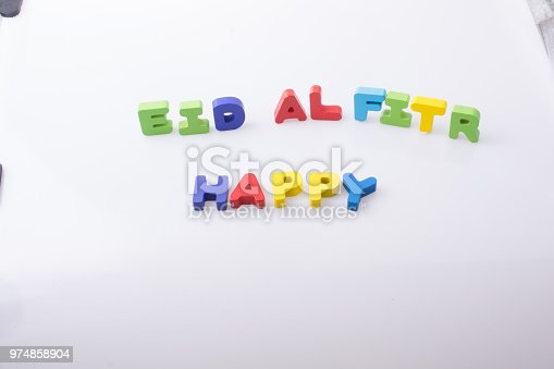 istock the word EID EL FITR  written with colorful letters 974858904