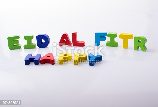 istock the word EID EL FITR  written with colorful letters 974858924