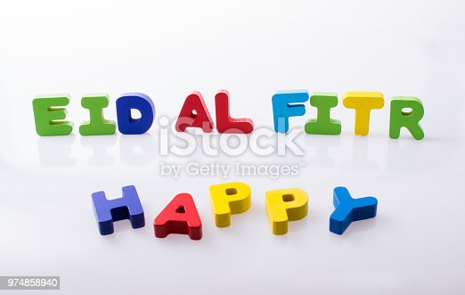 istock the word EID EL FITR  written with colorful letters 974858940
