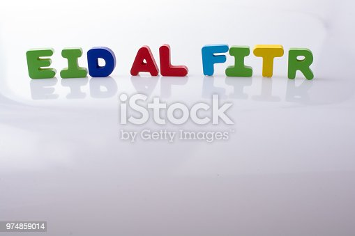 istock the word EID EL FITR  written with colorful letters 974859014