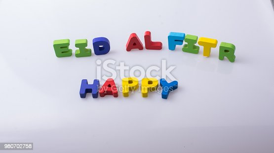 istock the word EID EL FITR  written with colorful letters 980702758
