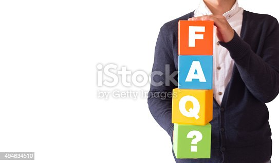 istock The Word FAQ on Colorful Cubes 494634510