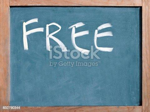 istock The word free written on a blackboard 832790344
