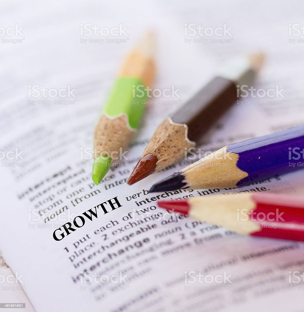 The word, GROWTH stock photo