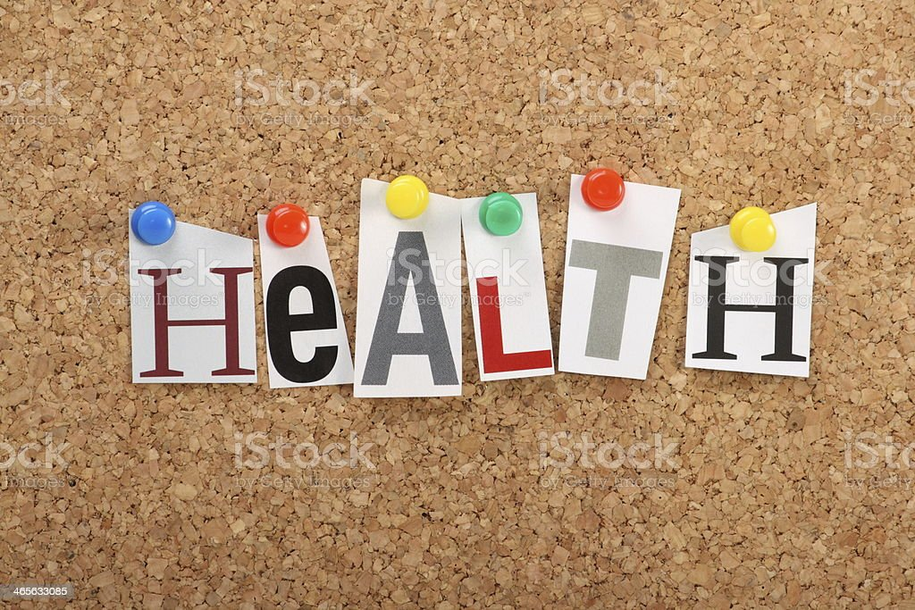 The word Health royalty-free stock photo