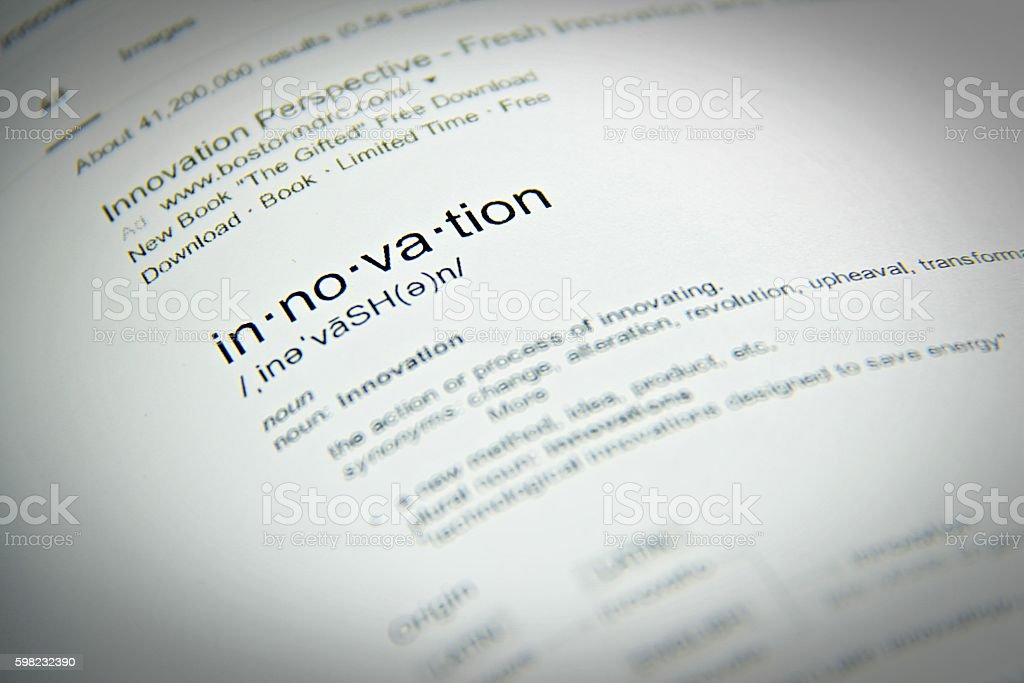 The word innovation, close up, selective focus foto royalty-free