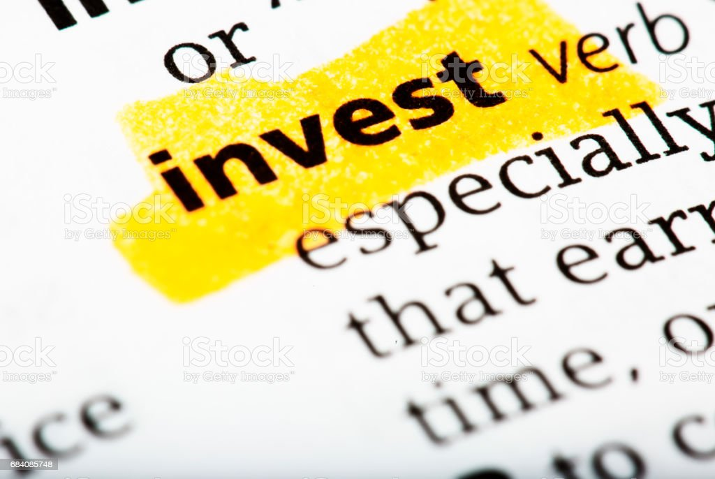 The Word Invest And Definition Printed In The English Dictionary