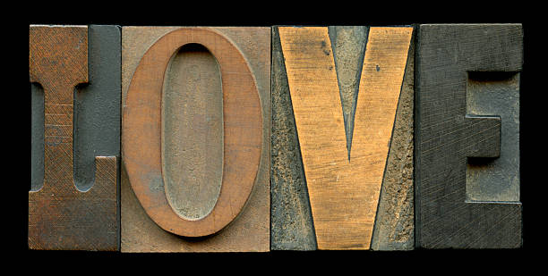 The Word Love - Oldstyle stock photo