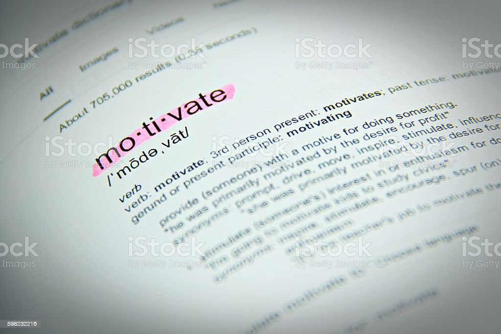 The word motivate, close up, selective focus foto royalty-free