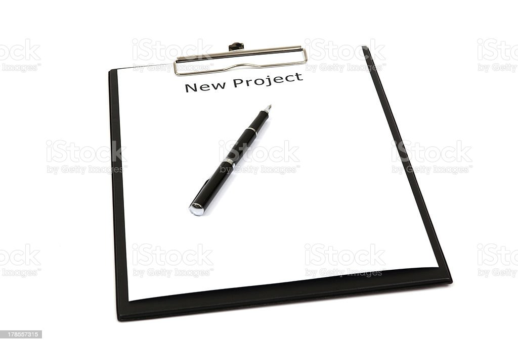 The word new projects royalty-free stock photo