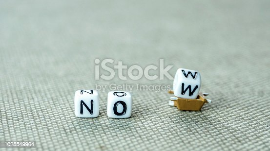 istock the word now with the letter w on its way away 1025549964