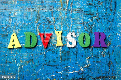 istock the word of ADVISOR on colorful abc letters at abstract 590161370