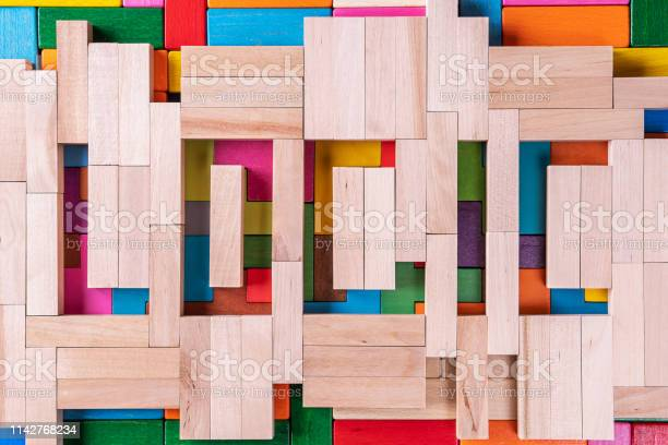 The word of logic of multi colored wooden blocks on a wooden picture id1142768234?b=1&k=6&m=1142768234&s=612x612&h=x hy6v2pow lummfiw6r4fgzwzgmaxbyimmnznizjgg=