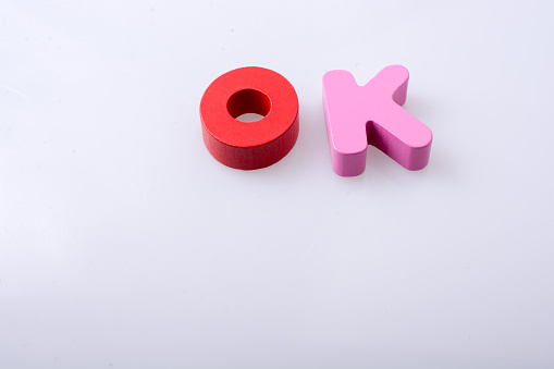 The Word Ok Written With Letter Blocks Stock Photo - Download Image Now