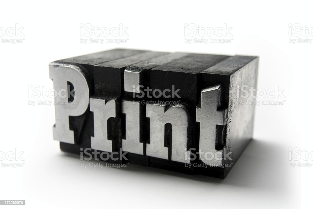 The word PRINT  - Printing blocks royalty-free stock photo