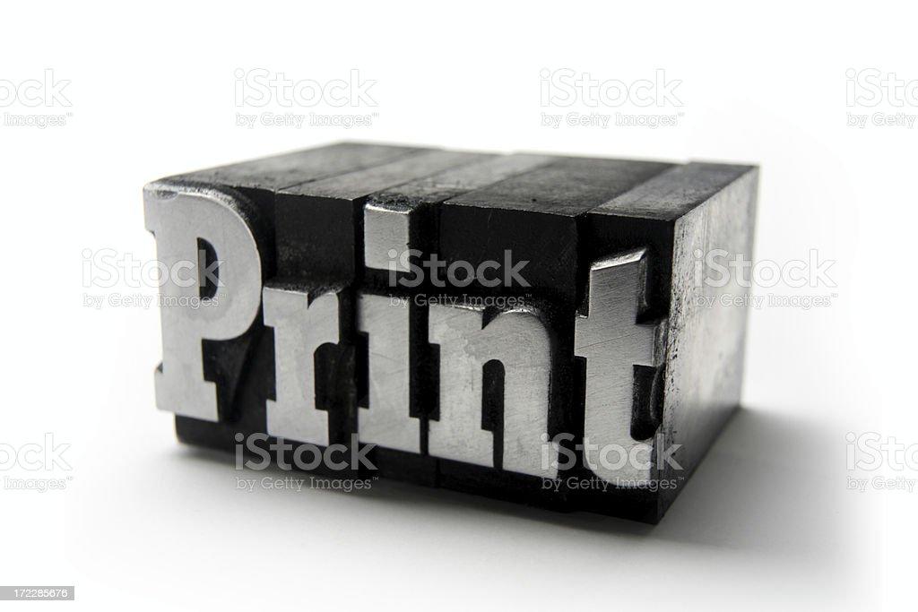 The word PRINT  - Printing blocks stock photo